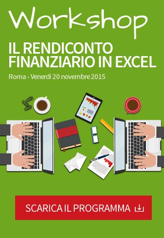 workshop rendiconto finanziario excel