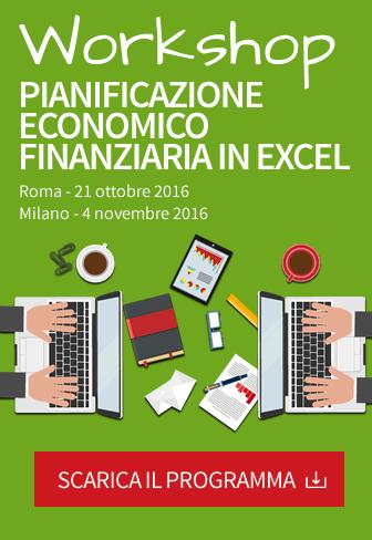 Workshop pianificazione economico finanziaria